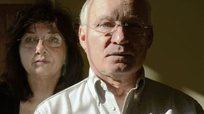 Alan Romatowski is battling early onset Alzheimer's disease. With him is his wife, Josie.